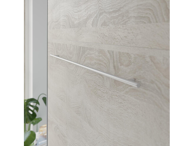 SMARTBett Folding wall bed Standard 140x200 Vertical Anthracite/Oak Sonoma with Gas pressure Springs
