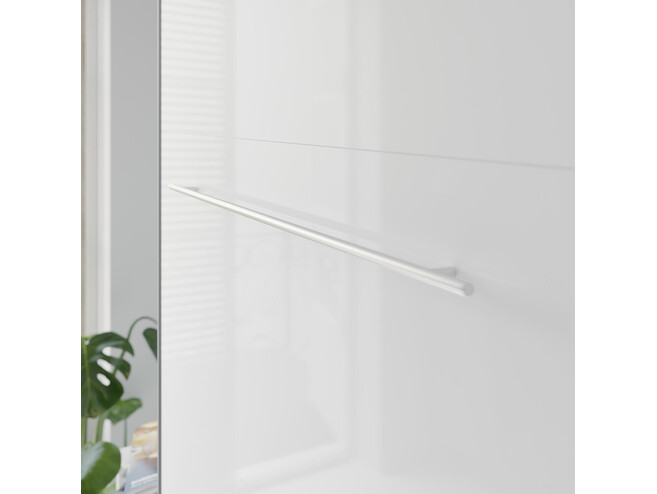 SMARTBett Folding wall bed Standard 140x200 Vertical Anthracite/White high gloss with Gas pressure Springs