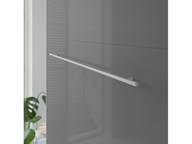 SMARTBett Folding wall bed Standard 140x200 Vertical Anthracite/Anthracite high gloss with Gas pressure Springs
