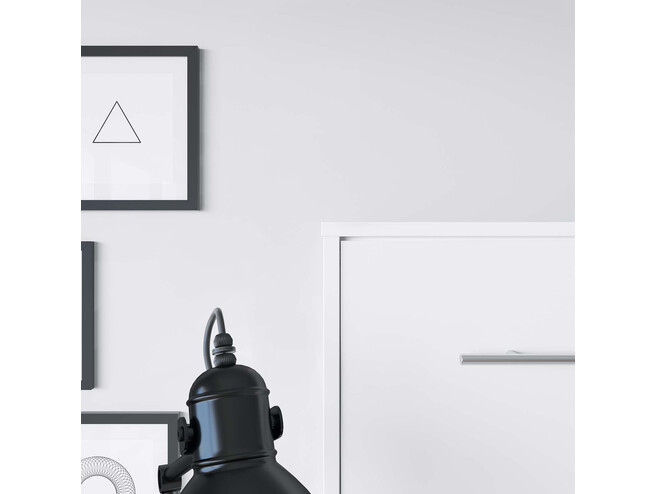 SMARTBett Folding wall bed Standard 140x200 Horizontal White with Gas pressure Springs