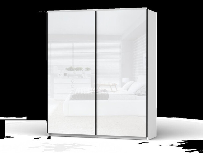 check out bca18 6a06d Sliding door Wardrobe Colin width 183 cm White/White Gloss