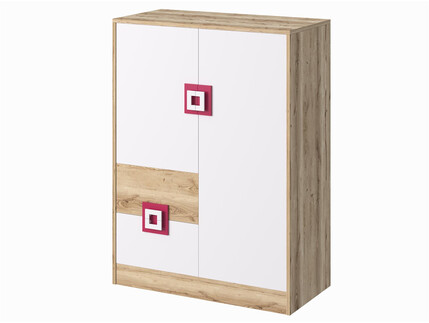 NIKI Highboard Dresser Cupboard 2-door with 2 drawers...