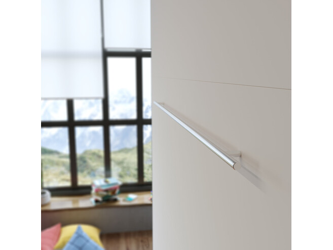 Folding wall bed 160cm Anthracite/White Comfort bed frame SMARTBett