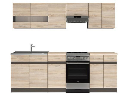Kitchen Kitchenette Junona 230cm Oak Sonoma / Oak Sonoma