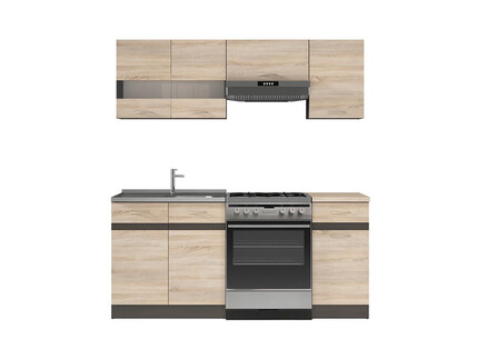 k che k chenzeile junona 230cm eiche sonoma eiche sonoma 335 95. Black Bedroom Furniture Sets. Home Design Ideas