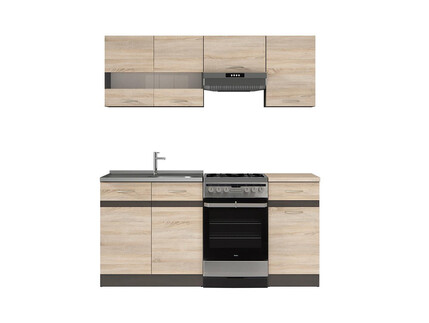 k che k chenzeile junona 240cm eiche sonoma eiche sonoma 366 95. Black Bedroom Furniture Sets. Home Design Ideas