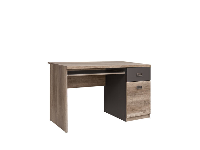Malkolm Computer desk with keyboard drawer Oak Canyon with font / tungsten