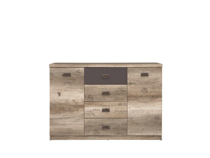 Malkolm Sideboard Dresser 130cm Oak Canyon with writing /...