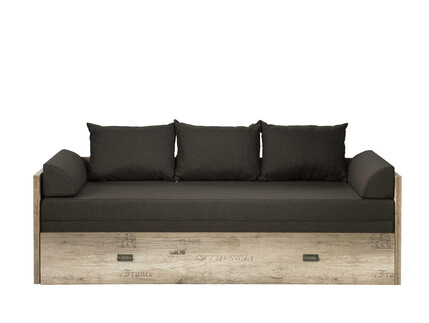 Malkolm Sofa bed extendable 80/160 Oak Canyon with writing