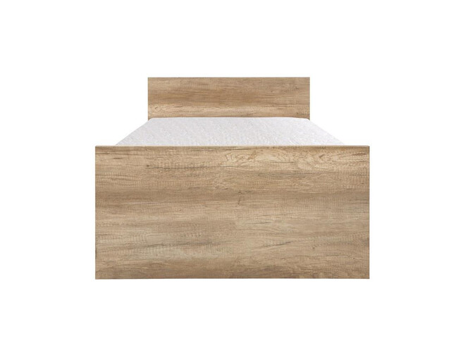 Tienerbed Incl Matras.Malkolm Bed 90cm Incl Mattress In Oak Canyon Color With Writing 374