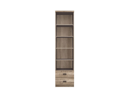 Malkolm Stand Shelf Bookcase 50cm width Oak Canyon with...