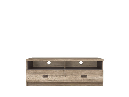 Malkolm TV Media cabinet with 2 drawers Oak Canyon with...