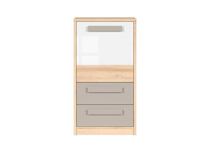 NAMECK chest of drawers 1 door 2 drawers in beech...