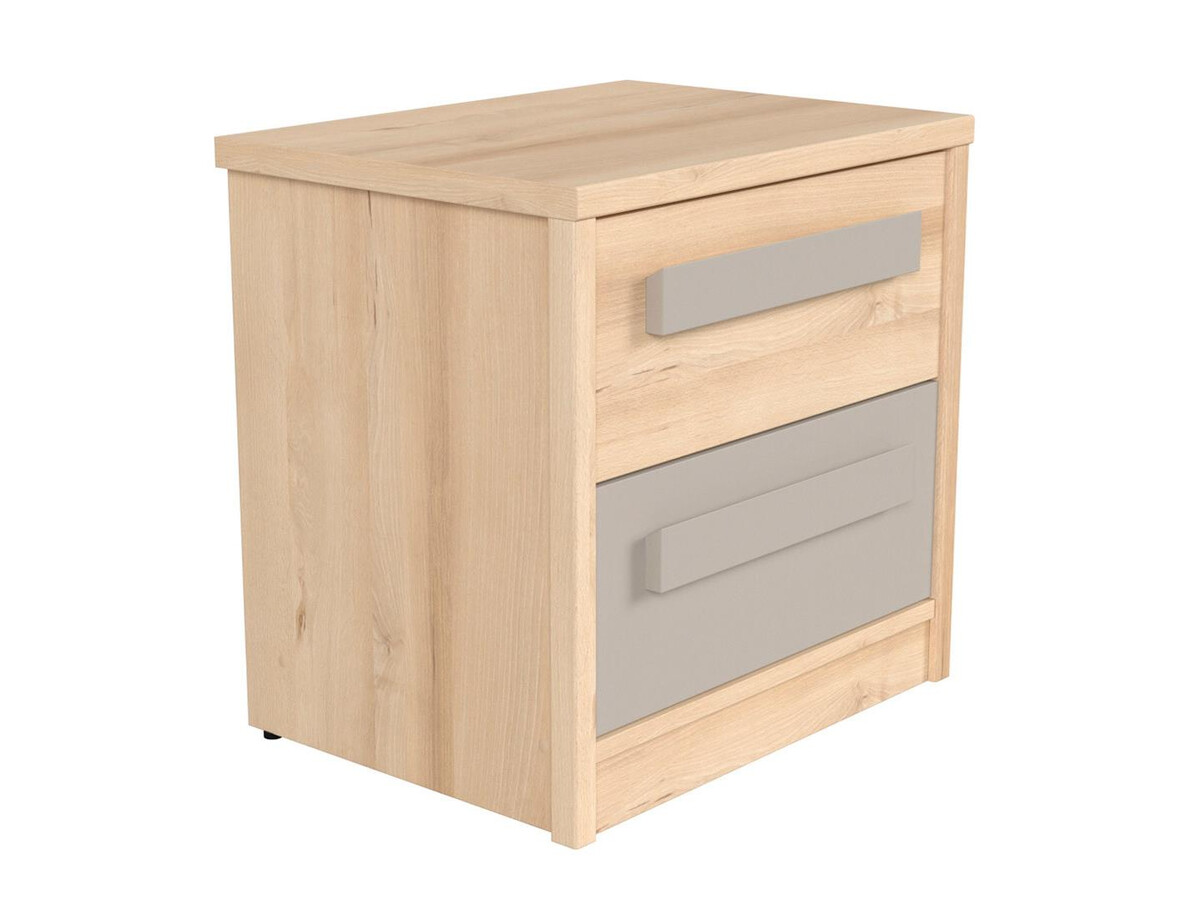 Nameck Bedside Table In Beech Decor Gray