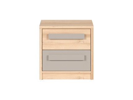 NAMECK bedside table in beech decor/ gray
