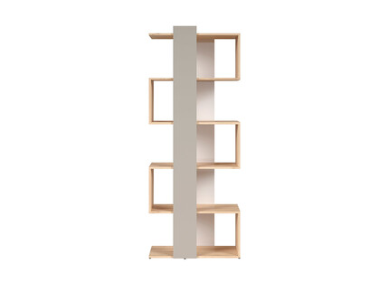 NAMECK bookcase shelf left in beech decor / white gloss /...