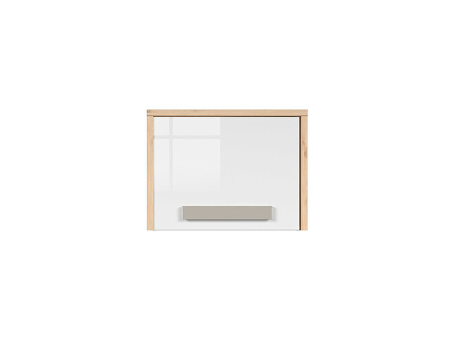 NAMECK Closet Cabinet 1 door in beech decor / white gloss / gray