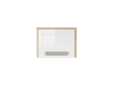 NAMECK Closet Cabinet 1 door in beech decor / white gloss...