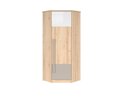 NAMECK corner wardrobe 1 door in beech finish / white...