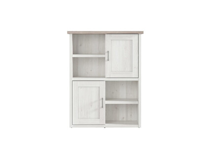Lukka Shelf Dresser Sideboard with 2 doors in larch light...