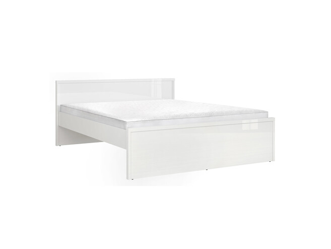 POURI double bed 160cm in white gloss