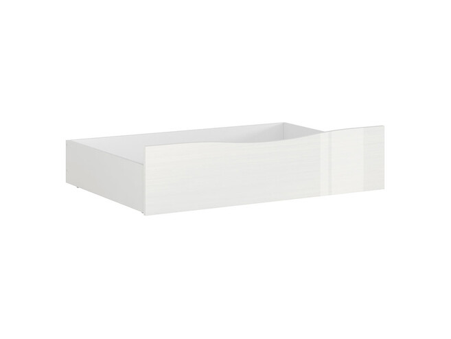 POURI bed box bedside drawer in white gloss