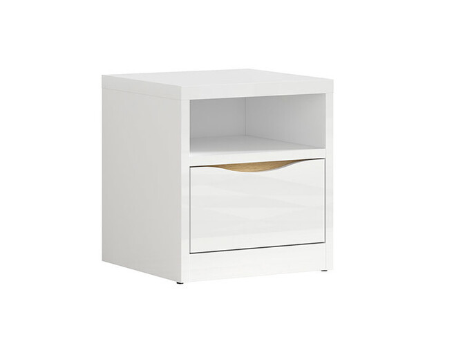 POURI-140 bedroom with 140-bed 6-pcs. in white gloss / oak