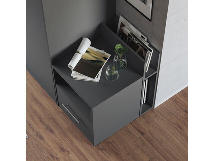 Nightstand Anthracite SMARTBett folding bed 160x 200cm