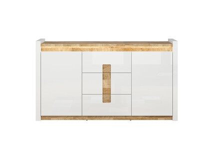 Alamena chest of drawers sideboard 172cm in white / oak...