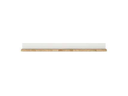 Alamena wall shelf hanging shelf in white/ oak...