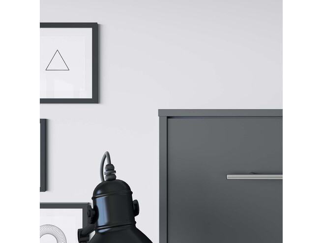 SMARTBett Folding wall bed Standard Comfort 140x200 Horizontal Anthracite with gas springs