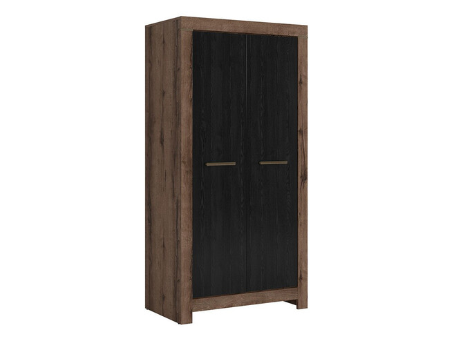 Wardrobe in decor monastery oak / black oak