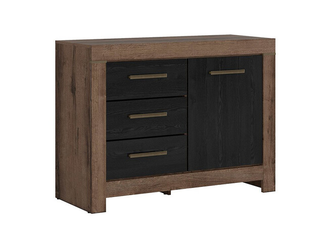 Dresser in the decor monastery oak/black oak