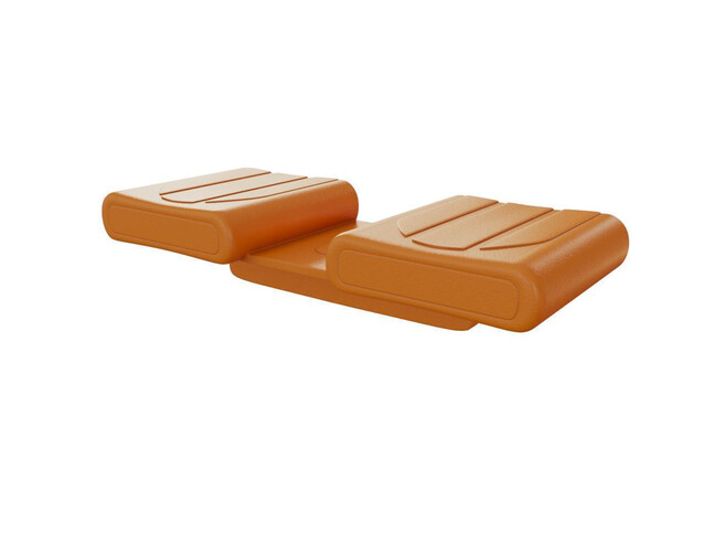 Duo caps Besdstead holders DUO BASIC COMFORT ORANGE for holding bed slats