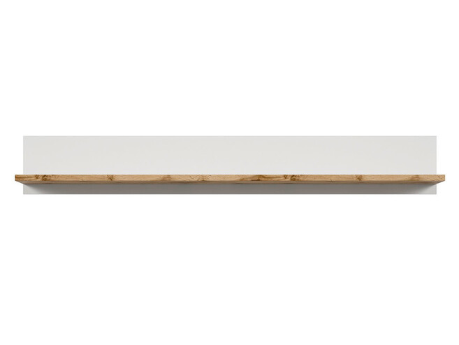 HOLSTEN Wall shelf 156cm in white / oak
