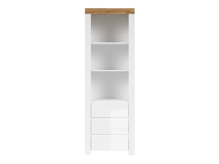 HOLSTEN bookshelf cabinet shelf in white / oak / white...