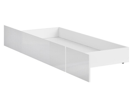 HOLSTEN bed box in white / white gloss