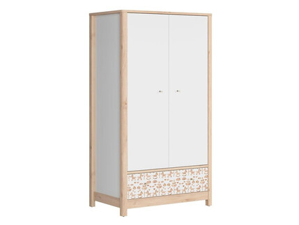 TIMOH Wardrobe with 2 doors, 2 drawers in white / beech /...