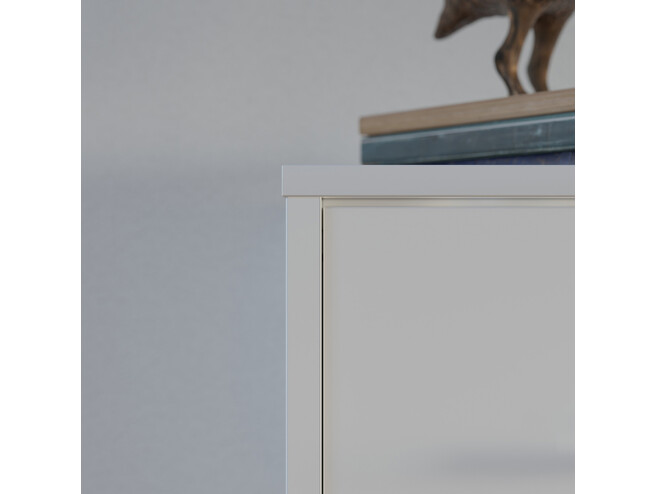 Folding wall bed Standard 90x200 Horizontal White high gloss/White &Anthracite High gloss front with Gas pressure Springs