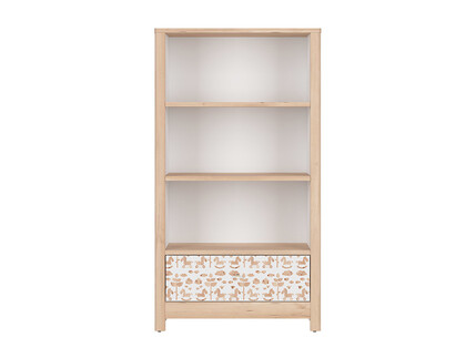 TIMOH low cabinet shelf with 3 compartments, a drawer in...