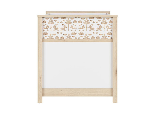 TIMOH baby bed 140x70cm in white / beech / ponies decor