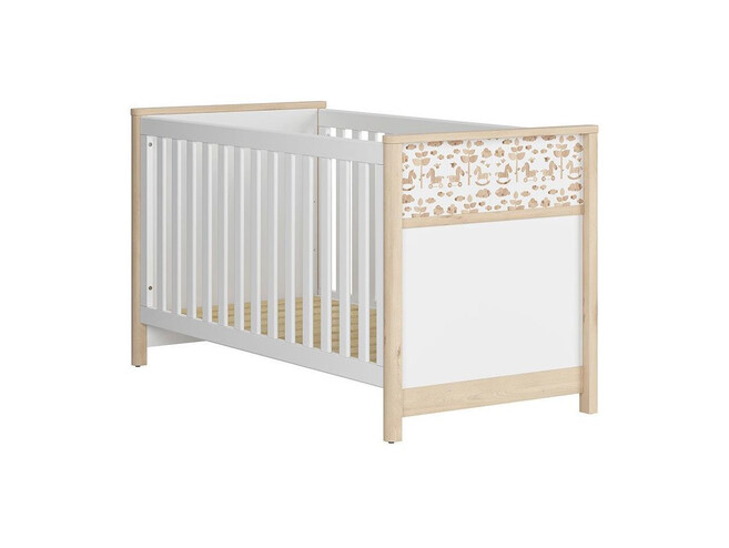 TIMOH baby room set 4 pcs. in white / beech / pony decor with horse application
