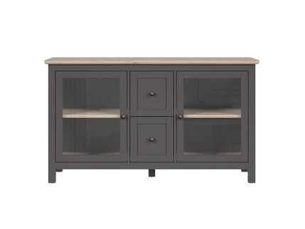 BOCAGE showcase chest of drawers 2 doors in graphite /...