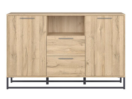 GAMMA LOFT chest of drawers 2 doors in oak decor