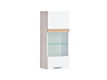 RIVA hanging showcase in white / oak