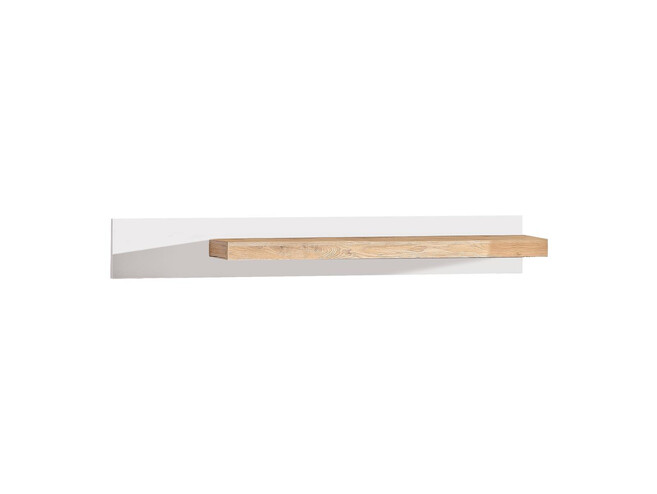 RIVA hanging shelf in white / oak