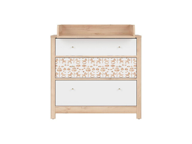 TIMOH changing table in beech / white / pony decor