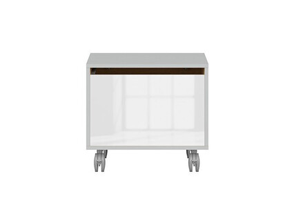 NANDI rollcontainer in light gray / oak / gloss white