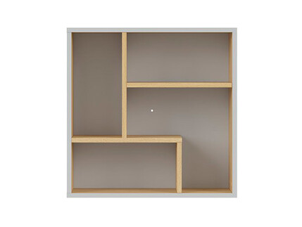 NANDI shelf in light gray / oak
