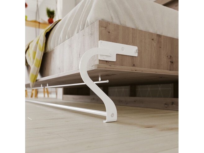 SMARTBett Folding wall bed Standard Comfort 90x200 Horizontal Wild Oak with gas springs